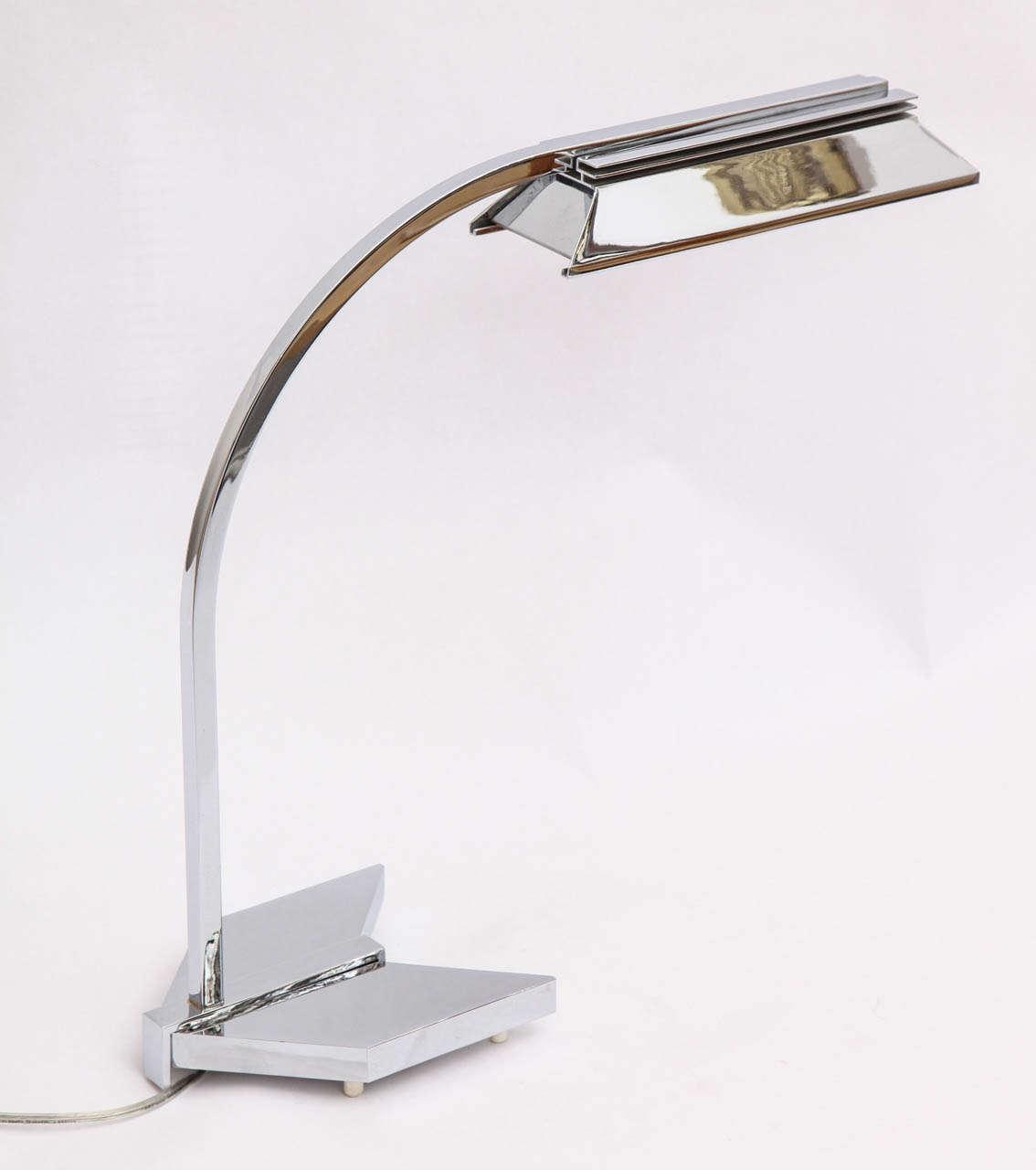 A 1960s Futurist table lamp signed castella lighting.