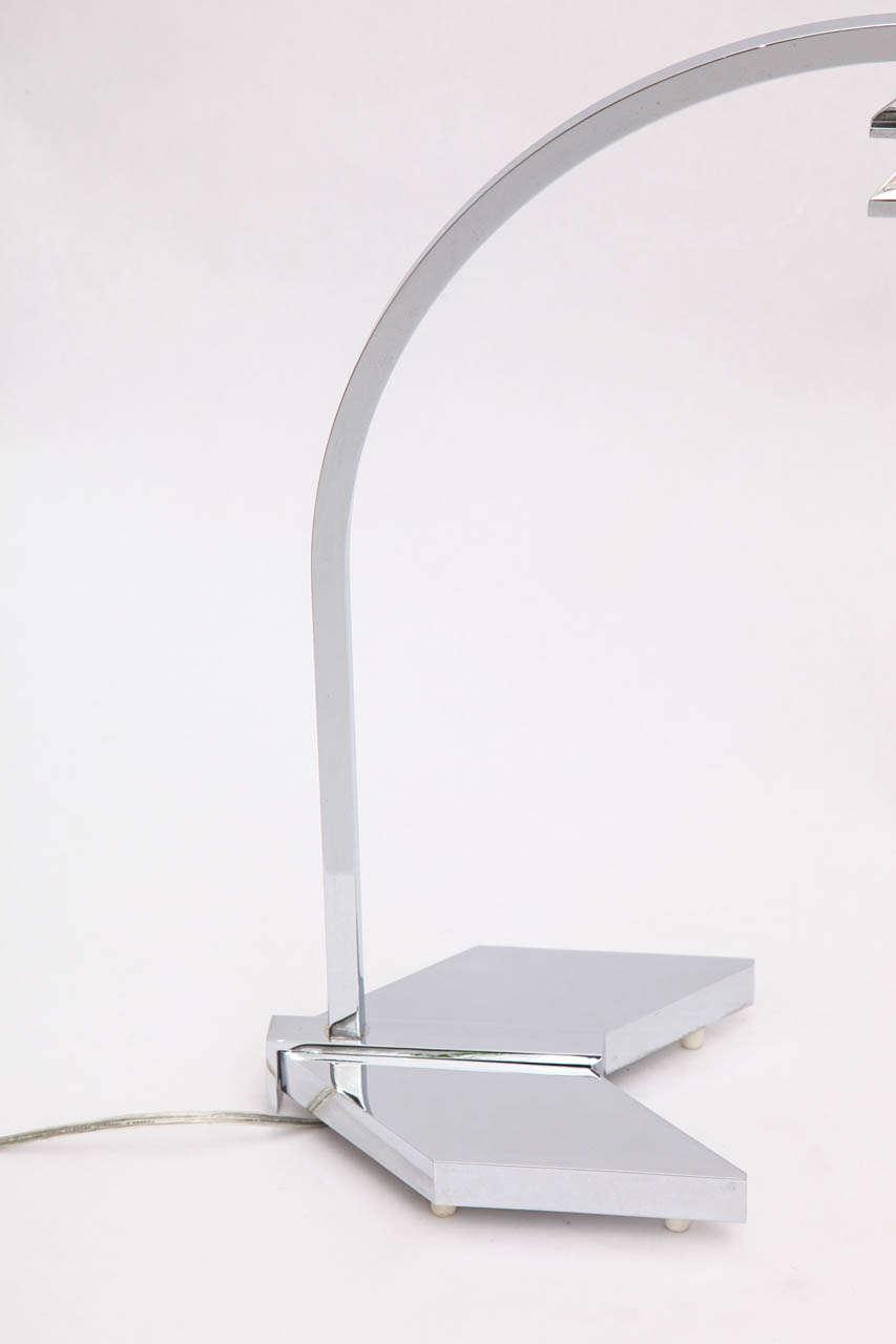 American 1960s Futurist Table Lamp Signed Castella Lighting For Sale