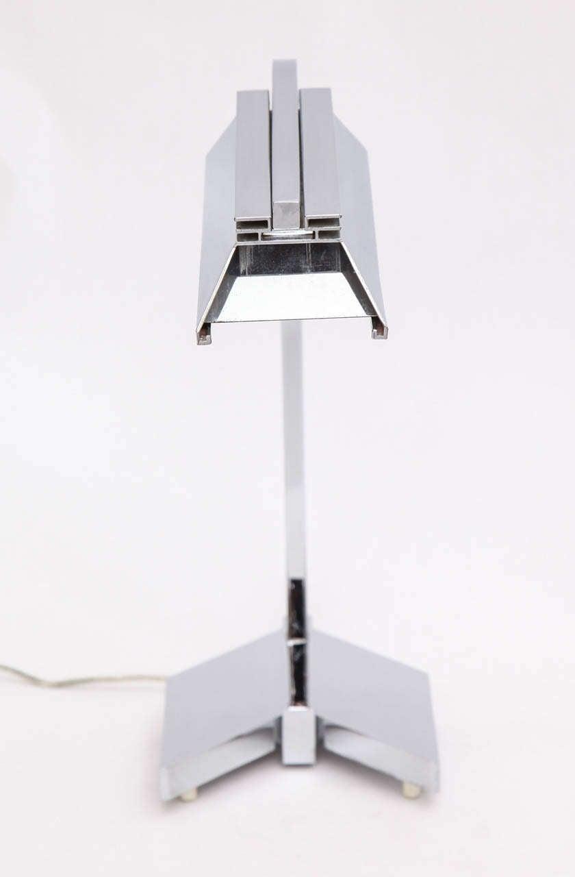 1960s Futurist Table Lamp Signed Castella Lighting For Sale 1