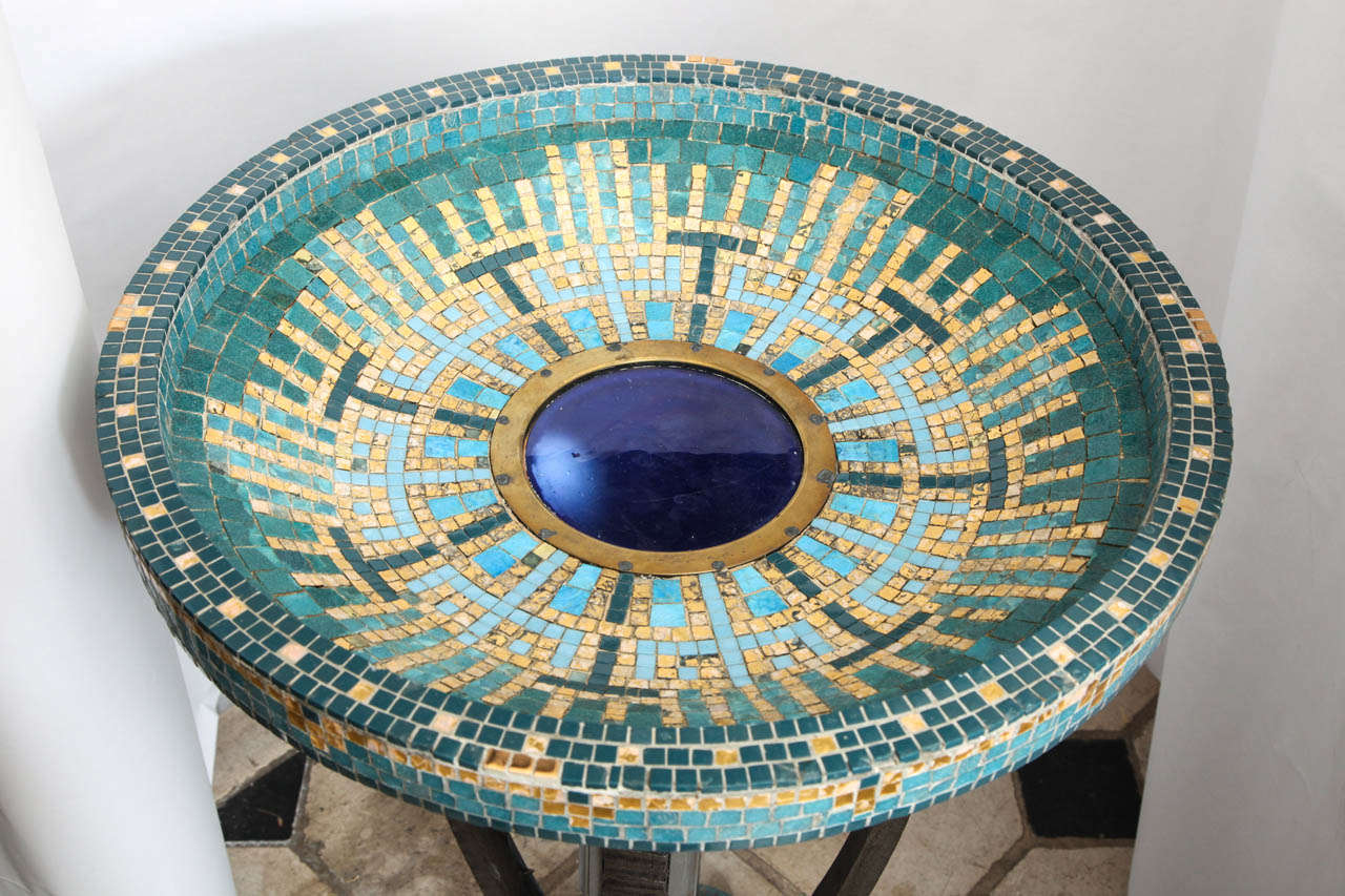 A 1920's French Art Deco Illuminated Pond Attributed To Edgar Brandt 7