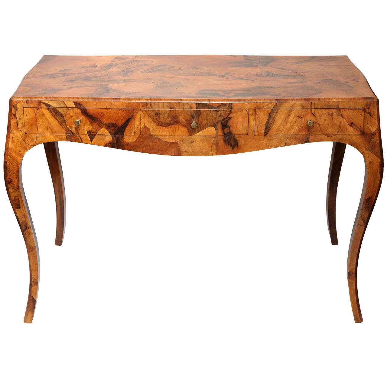 An Italian Art Moderne Console Desk Of Exotic Woods At 1stdibs