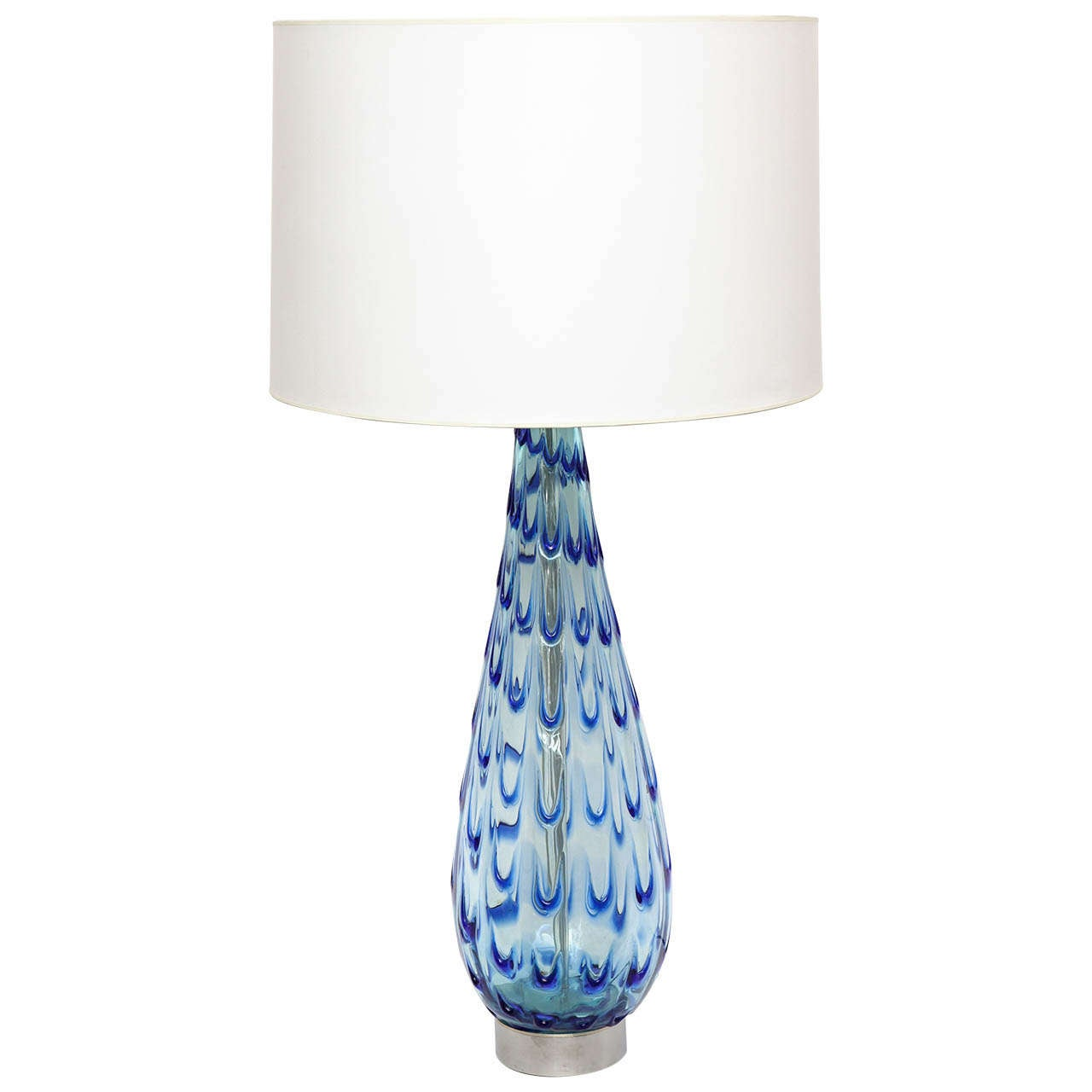 1950s Italian Art Glass Table Lamp