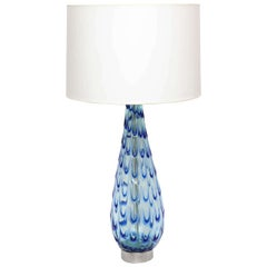 Table Lamp Murano Art Glass Mid Century Modern Italy 1950's