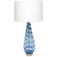 Table Lamp Murano Art Glass Mid Century Modern Italy 1950's