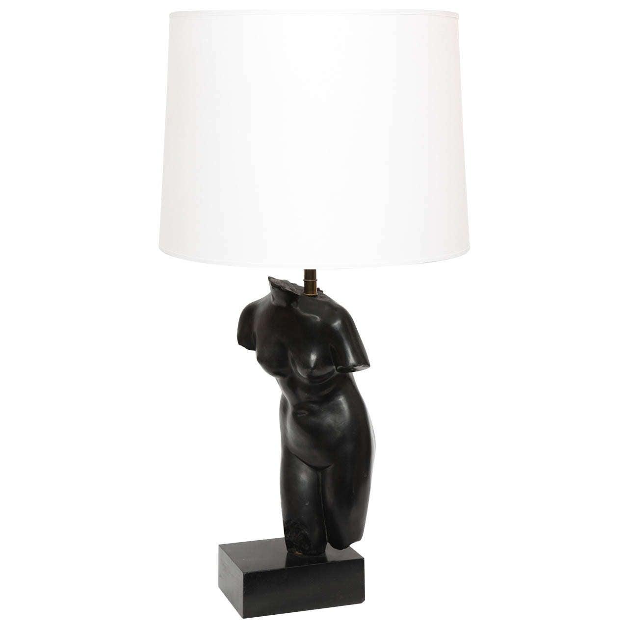 1940s Art Moderne Torso Lamp