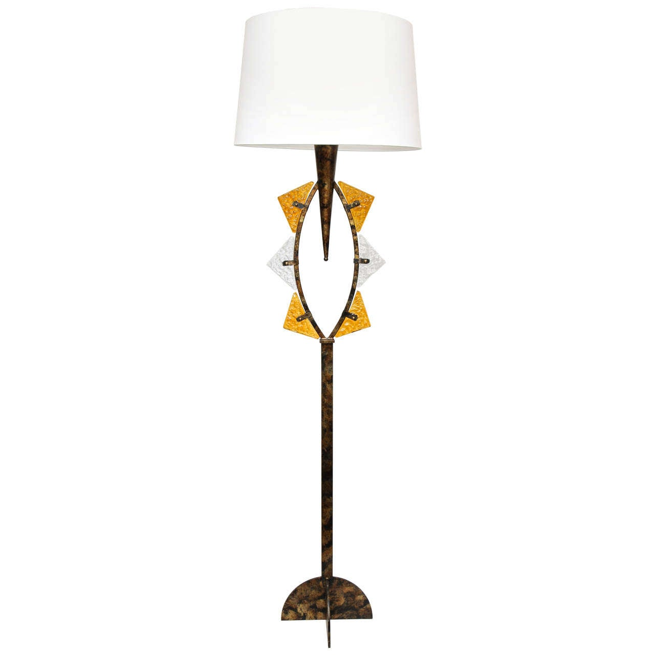 Mid Century Modern Italian Brutalist Floor Lamp 1960's