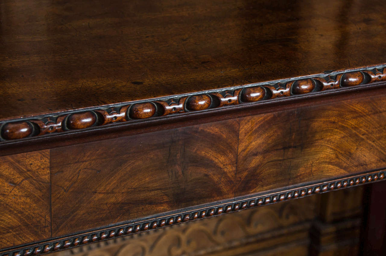 Georgian Fine Chippendale Period Mahogany Serving Table For Sale