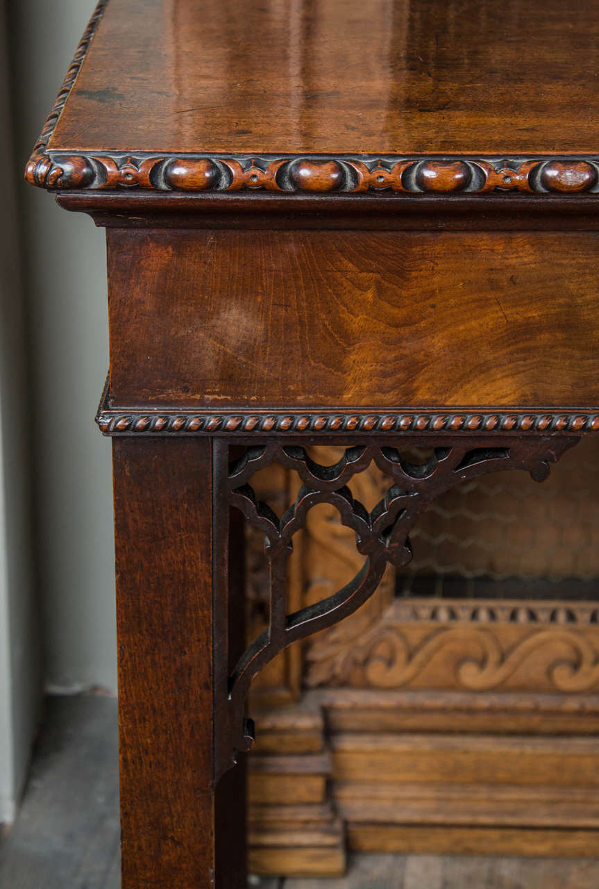 18th Century Fine Chippendale Period Mahogany Serving Table For Sale