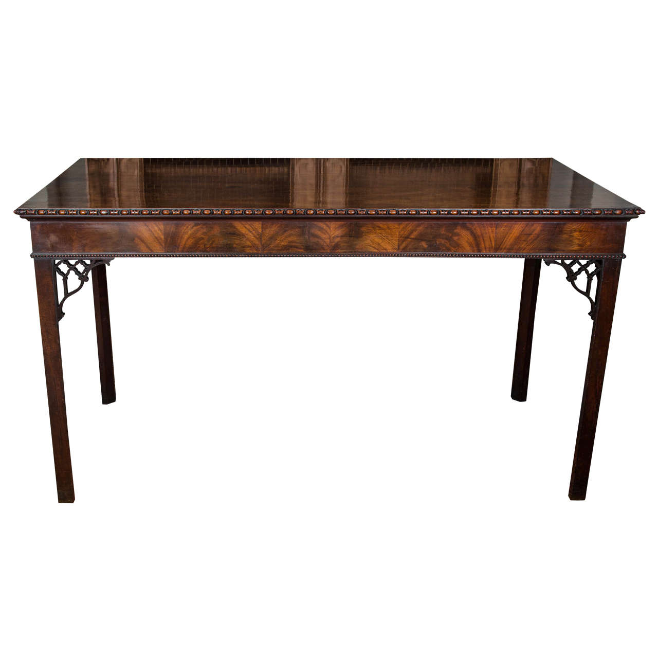 Fine Chippendale Period Mahogany Serving Table For Sale