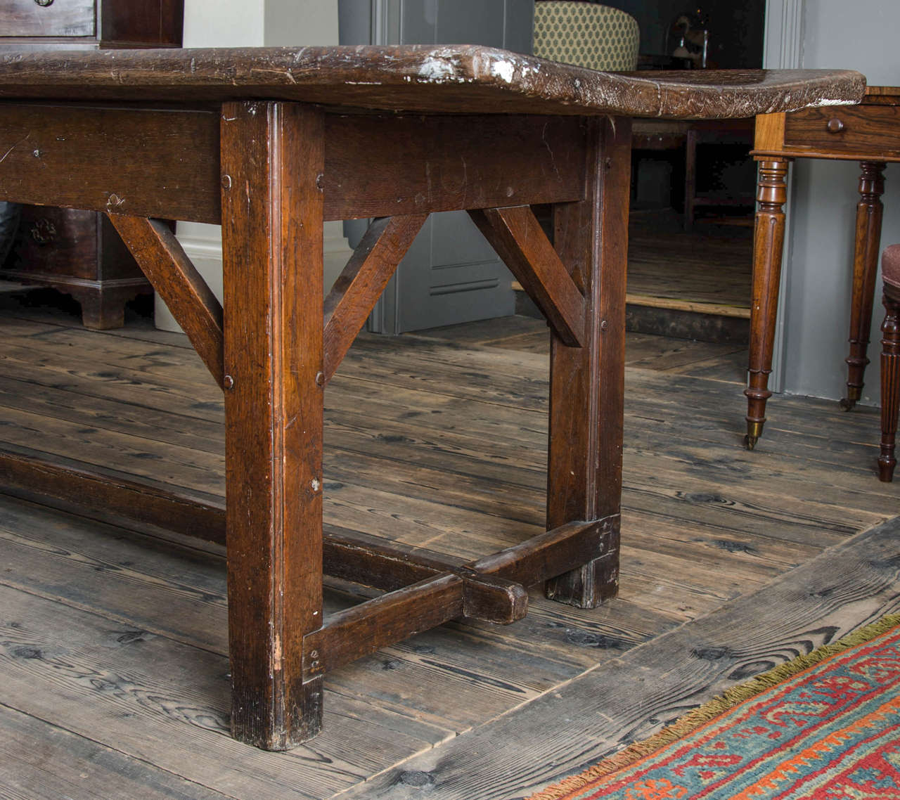 British 17th Century English Oak Refectory Table