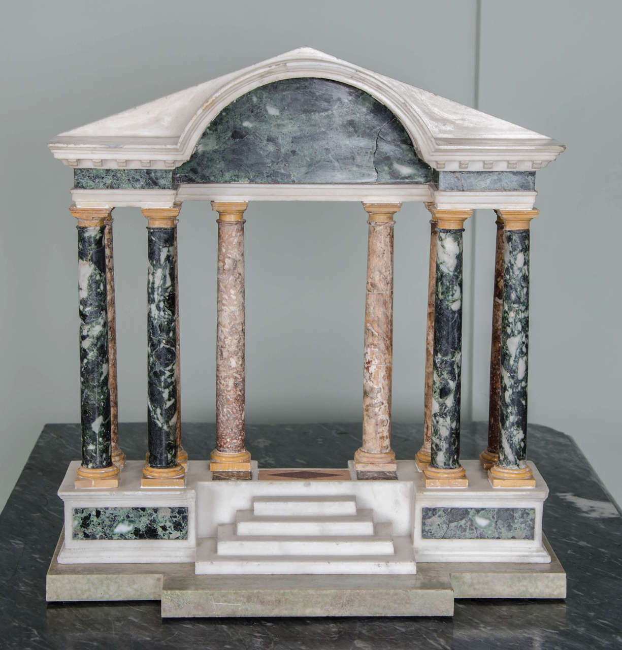 Finely detailed grand tour model of a palladian portico 2
