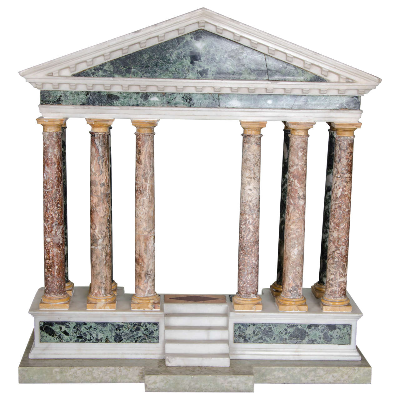 Finely detailed grand tour model of a palladian portico 1