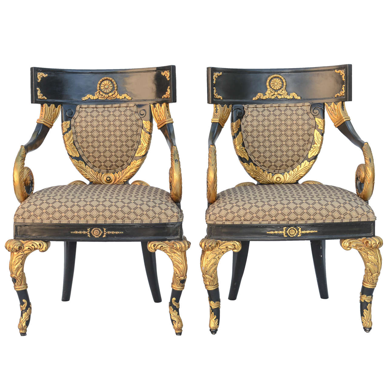 Pair Of Versace Home Collection Armchairs For