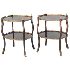 Pair of Rosewood Accent Tables, 19th Century