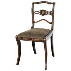 Early 19th Century English Regency Side Chair