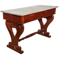 Early 19th Century Irish, Mahogany and Marble Top Console
