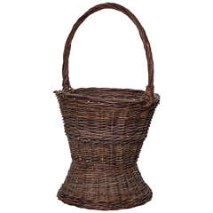 Mammoth Woven Basket 20th Century