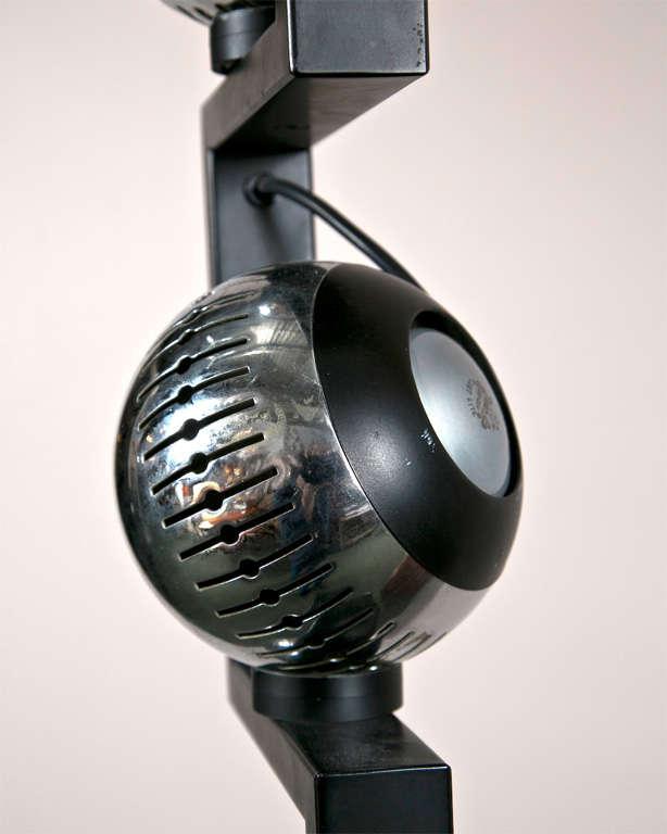 Chrome Floor Lamp by Angelo Lelli  For Sale