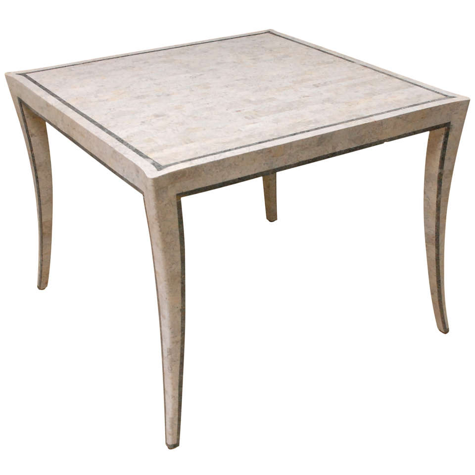 Tesselated stone dining table at 1stdibs for Stone dining table