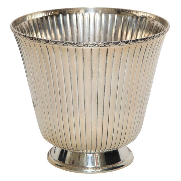 Italian Art Deco Silver Champagne Cooler