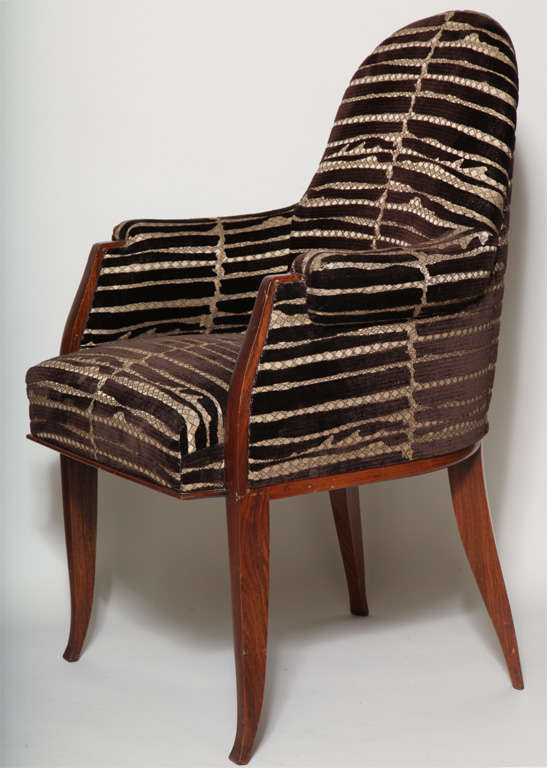 Art Deco Pair of Rosewood Armchairs by Émile-Jacques Ruhlmann image 3