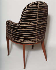 Art Deco Pair of Rosewood Armchairs by Émile-Jacques Ruhlmann thumbnail 8