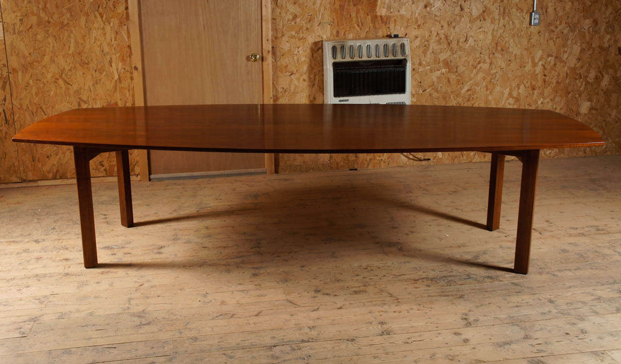 10 foot long walnut dining table attibuted to jens risom