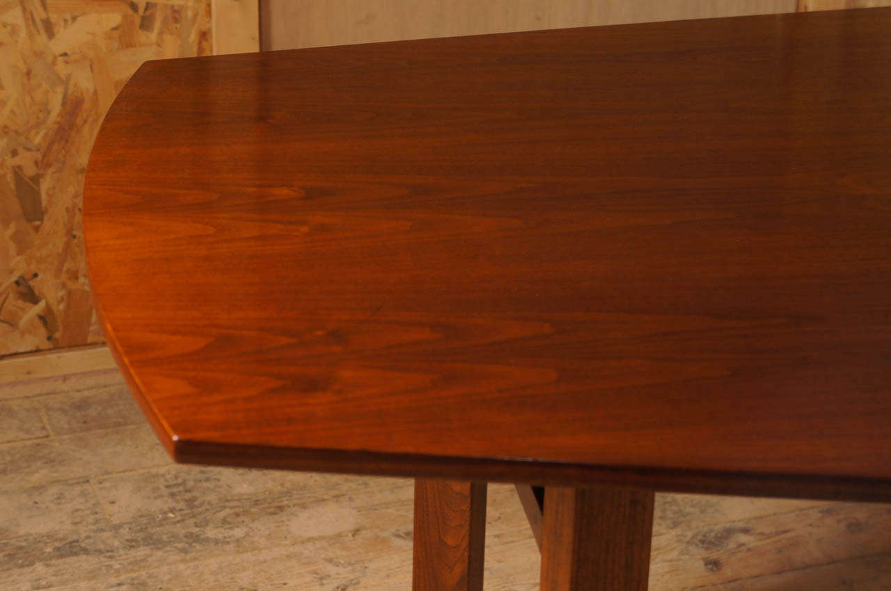 10 foot long walnut dining table attibuted to jens risom for 5 foot dining room table