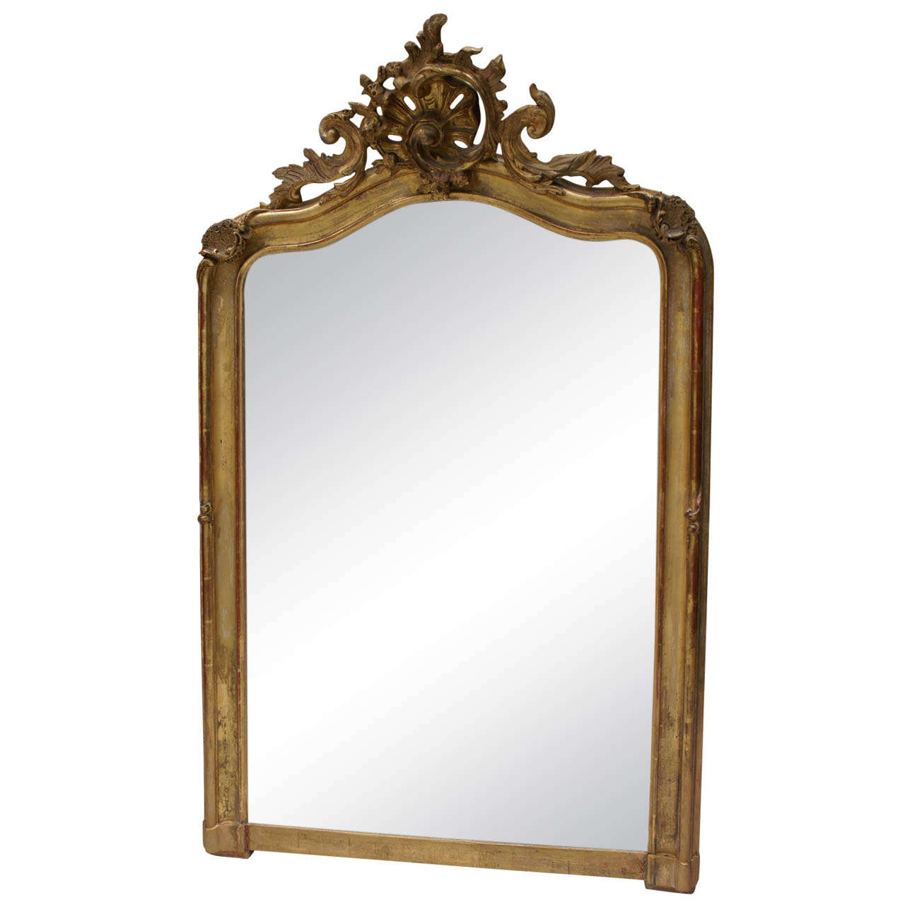 19th century rococo gilt mantel mirror for sale at 1stdibs for Fireplace mirrors