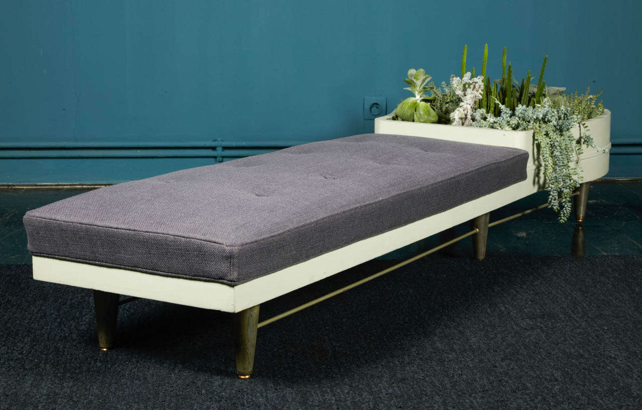 Unique and Exceptional Garden Box Bench by William Haines