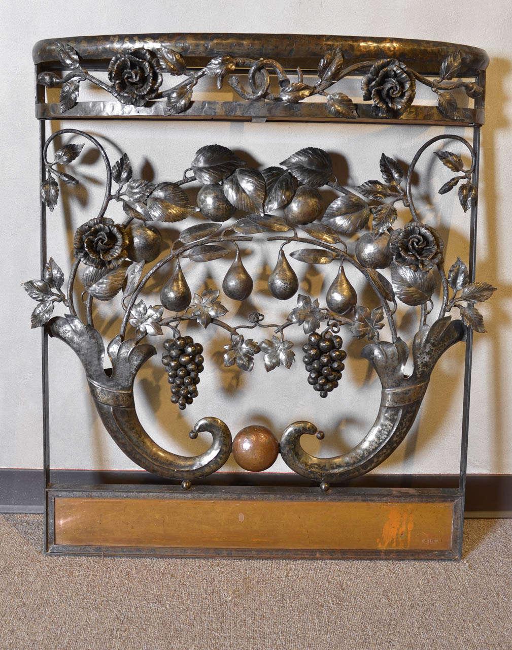art nouveau iron console circa 1900 at 1stdibs. Black Bedroom Furniture Sets. Home Design Ideas