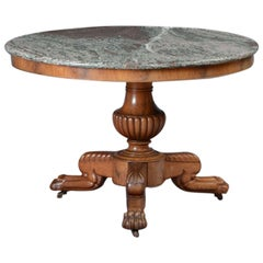 Louis Philippe Bleached Mahogany Centre Hall Table