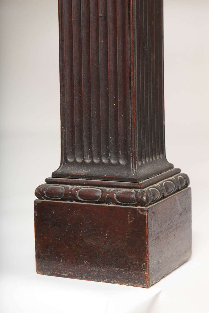 American Pair of George II Revival Mahogany Granite-Topped Side Tables, Kentian For Sale