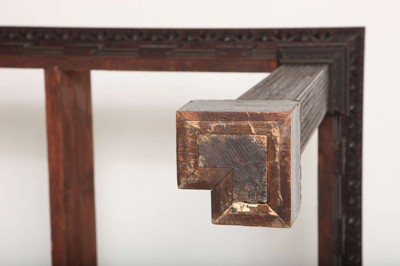 Pair of George II Revival Mahogany Granite-Topped Side Tables, Kentian For Sale 2
