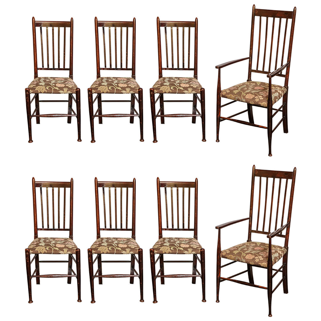 Set of eight glasgow style chairs at stdibs