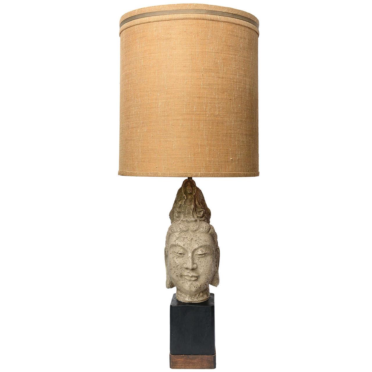James Mont Buddha Table Lamp