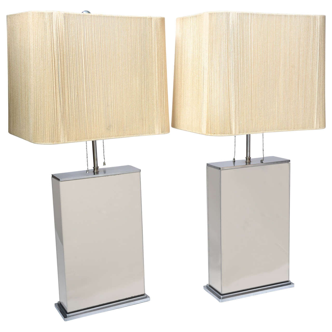 Heavy pair of smoked mirror table lamps in the manner of karl heavy pair of smoked mirror table lamps in the manner of karl springer for sale aloadofball Choice Image