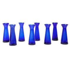 Danish Cobalt Blue Hyacinth Vases