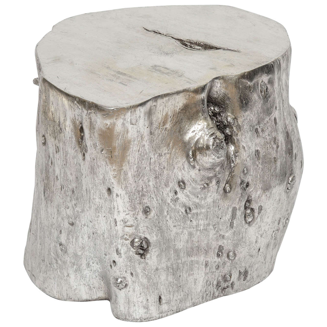 Silver Leaf Faux Tree Trunk For Sale