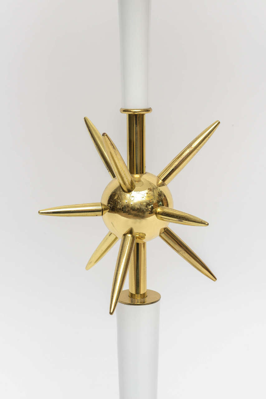 Mid-Century Modern Vintage Sputnik, Atomic-Style Table Lamp For Sale