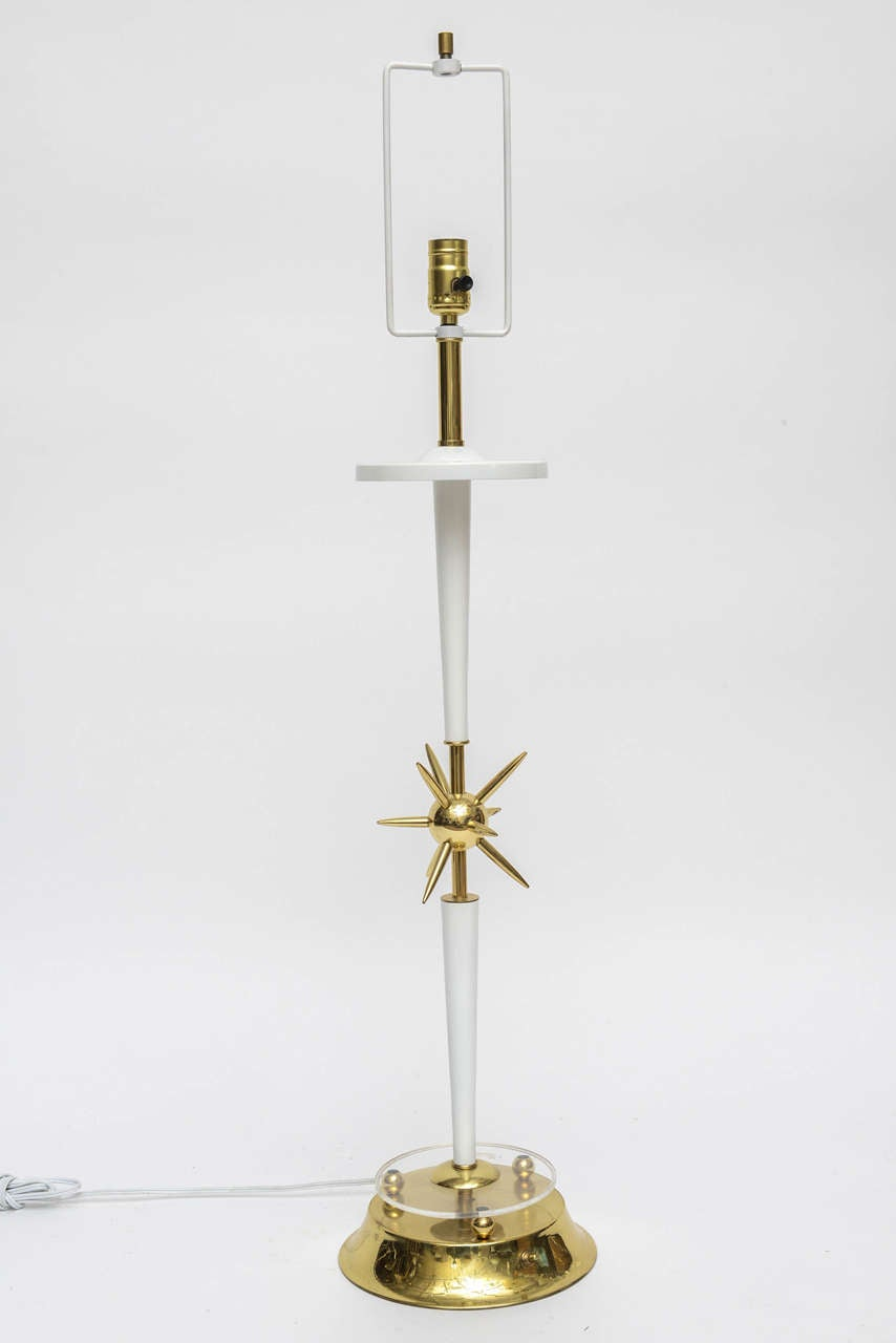 Mid-20th Century Vintage Sputnik, Atomic-Style Table Lamp For Sale