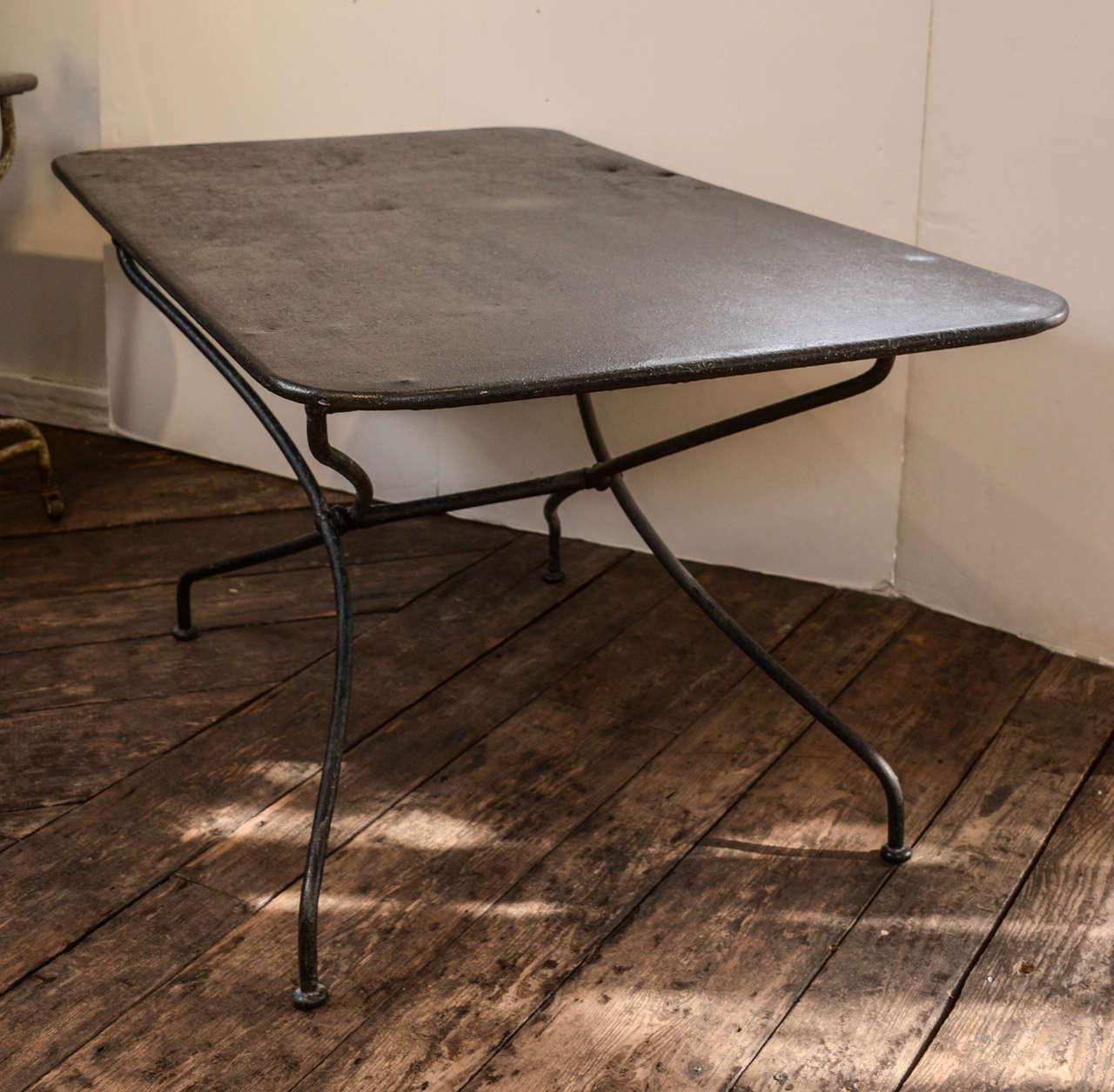 iron folding table for sale at 1stdibs. Black Bedroom Furniture Sets. Home Design Ideas
