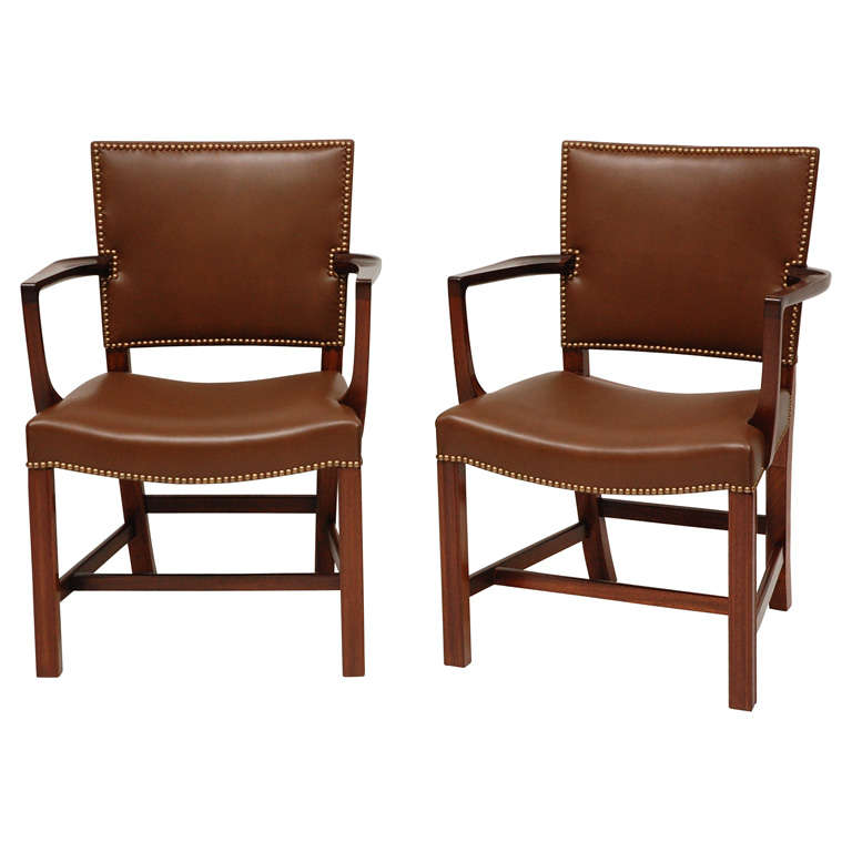 Pair of Kaare Klint Armchairs