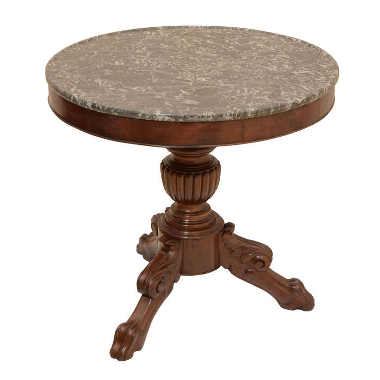 Louis philippe marble top centre table for sale at 1stdibs for Table louis philippe