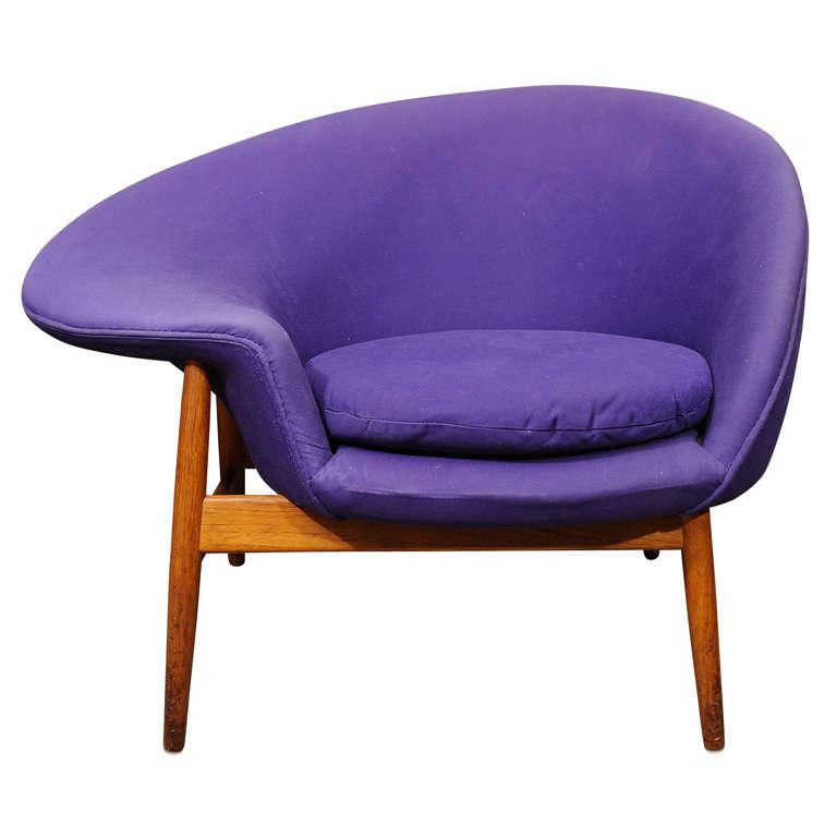 Superb Hans Olsen (1902 1983) U0027u0027fried Eggu0027u0027 Chair , 1956