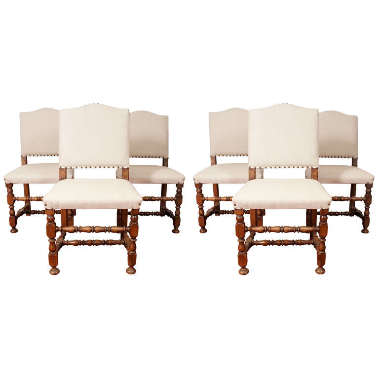 6 Jacobean Style Dining Chairs At 1stdibs