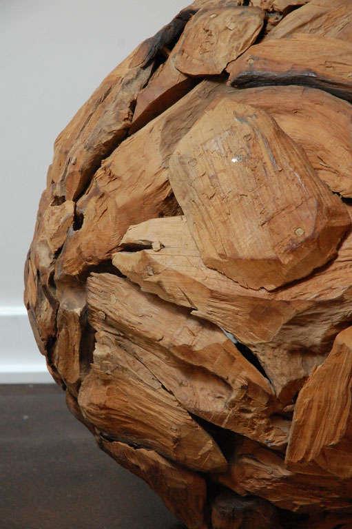 Large wood sphere sculpture image 4