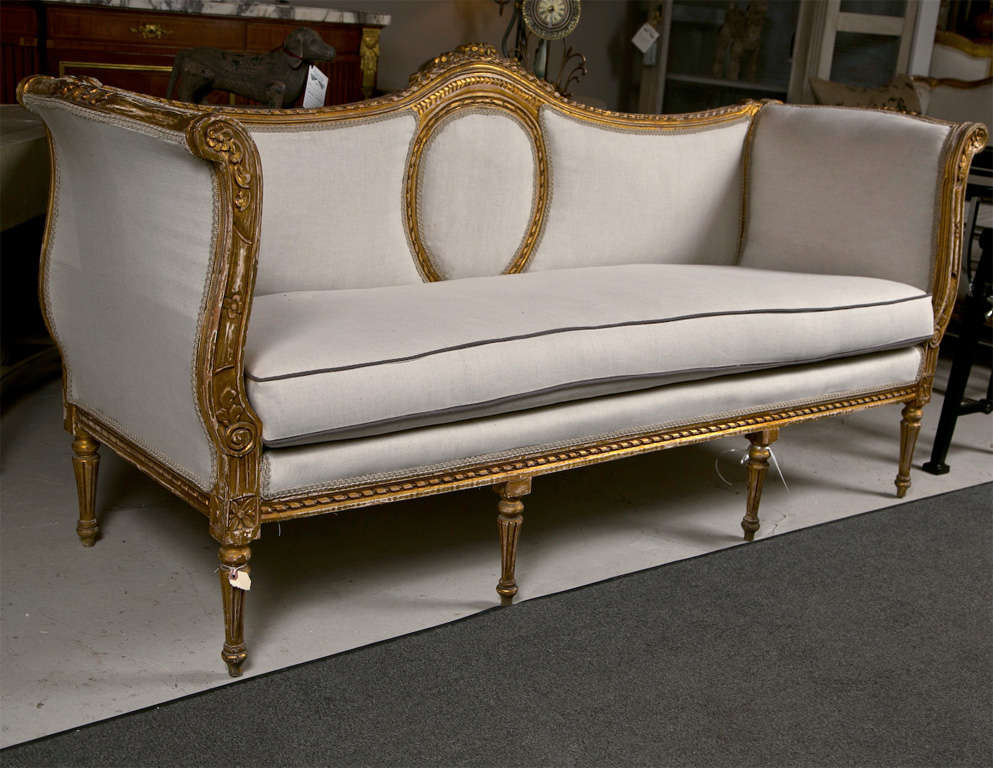 exceptional french louis xvi style canape sofa at 1stdibs. Black Bedroom Furniture Sets. Home Design Ideas