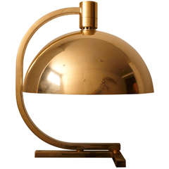 Important Gilt Brass Table Lamp by F. Albini, F. Helg, A. Piva