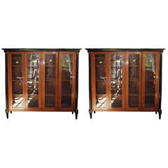 Pair of Directoire 19th Century Fruitwood Bookcases